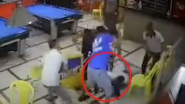 El joven fue golpeado por unos siete hombres.
