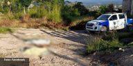escena del crimen de masacre en Siguatepeque