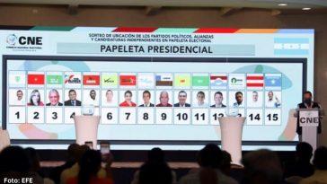 presentación de papeletas electorales