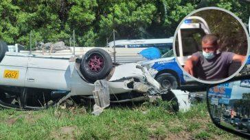 taxi se volco en accidente vial en tegucigalpa honduras
