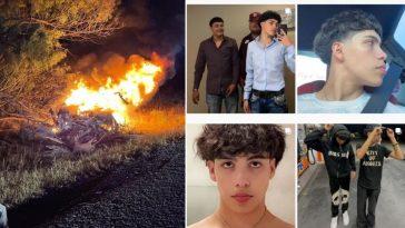 imágenes del joven tiktoker muerto en accidente.