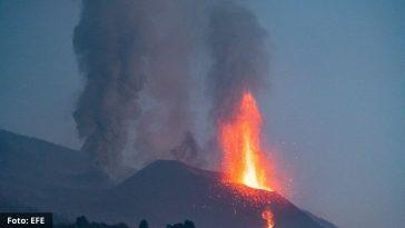Volcán en isla de La Palma