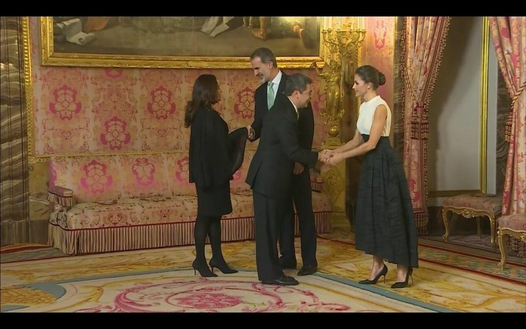 Reyes de España cenaron con el presidente de Honduras y su esposa