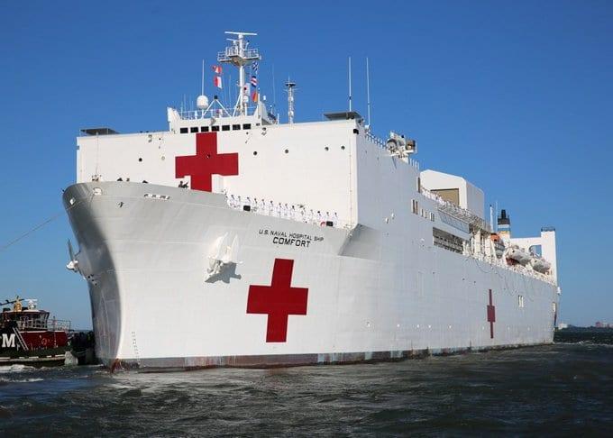 El USNS Comfort atracará en la bahía neoyorquina por orden del presidente Donald Trump.