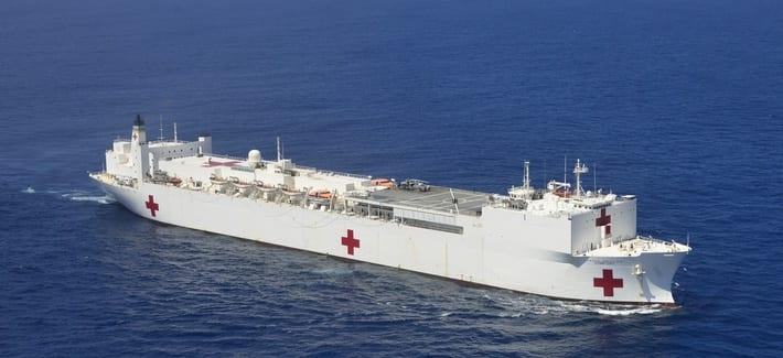 El Buque USNS Comfort hasta hace unos meses trataba a refugiados venezolanos.
