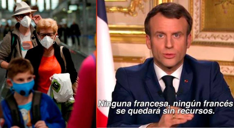 """Las medidas tomadas por el presidente francés incluyen cuarentena obligatoria por 15 días, asimismo la prohibición  de movimientos """"no esenciales"""" y obligatoriedad de permanecer en casa."""