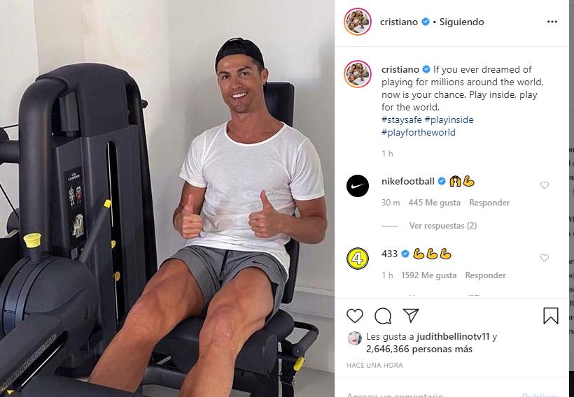 Cristiano Ronaldo ha vuelto a compartir mensaje de cont