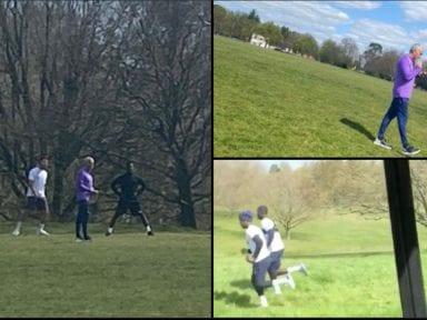 Captan a Mourinho entrenando a tres jugadores en un parque, en plena cuarentena por coronavirus