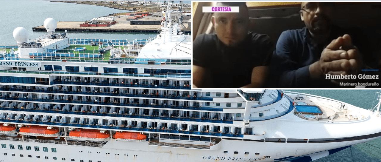Después de 32 días atrapados, algunos miembros de la tripulación dicen que les preocupan las condiciones de salud a bordo del barco y quieren volver con sus familias.