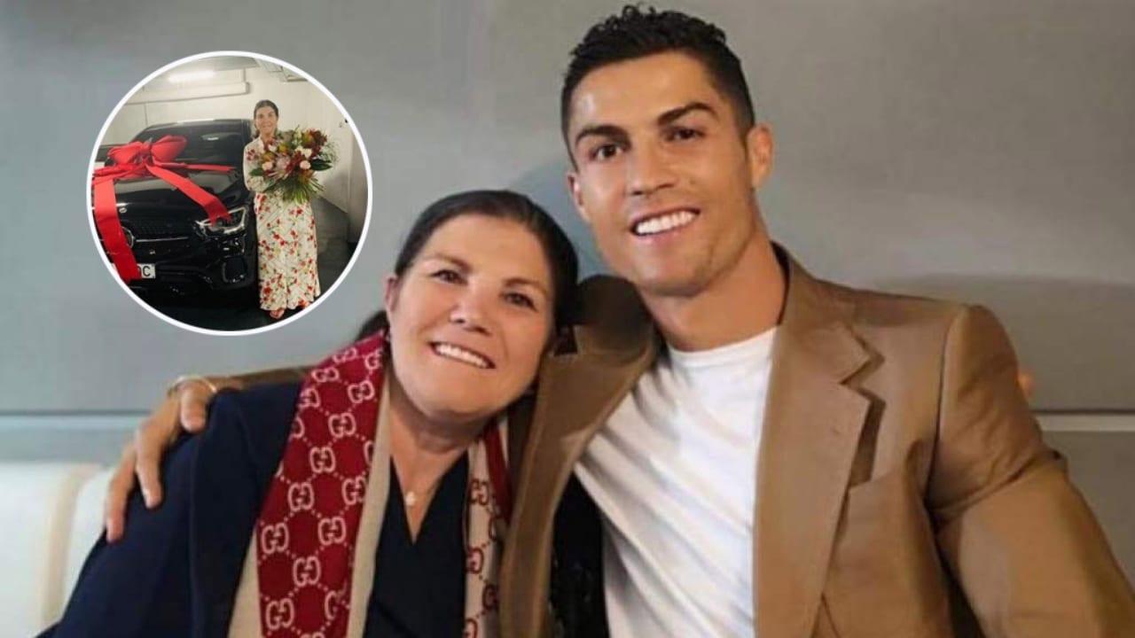 El jugador portugués sorprendió a su madre con un impresionante regalo que ella presumió en sus redes sociales.