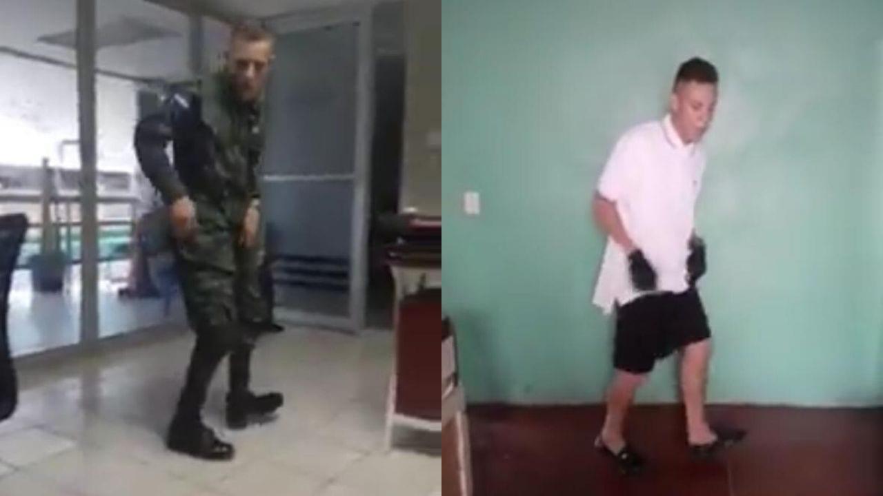 Esdras fue sacado de la institución armada por haber publicado un video donde bailaba con su uniforme.