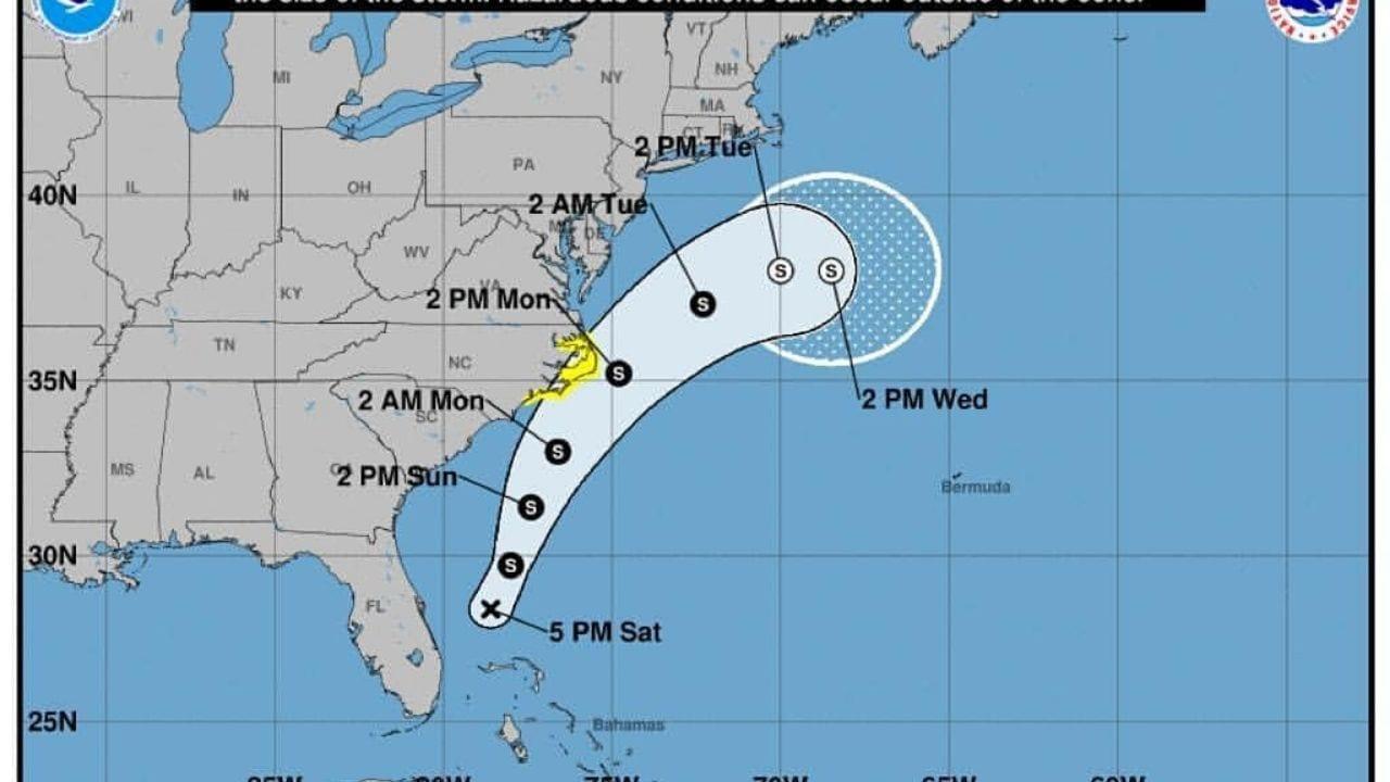 Lo que primero se consideró como una depresión ahora es una tormenta que dejará cantidad considerable de agua lluvia.