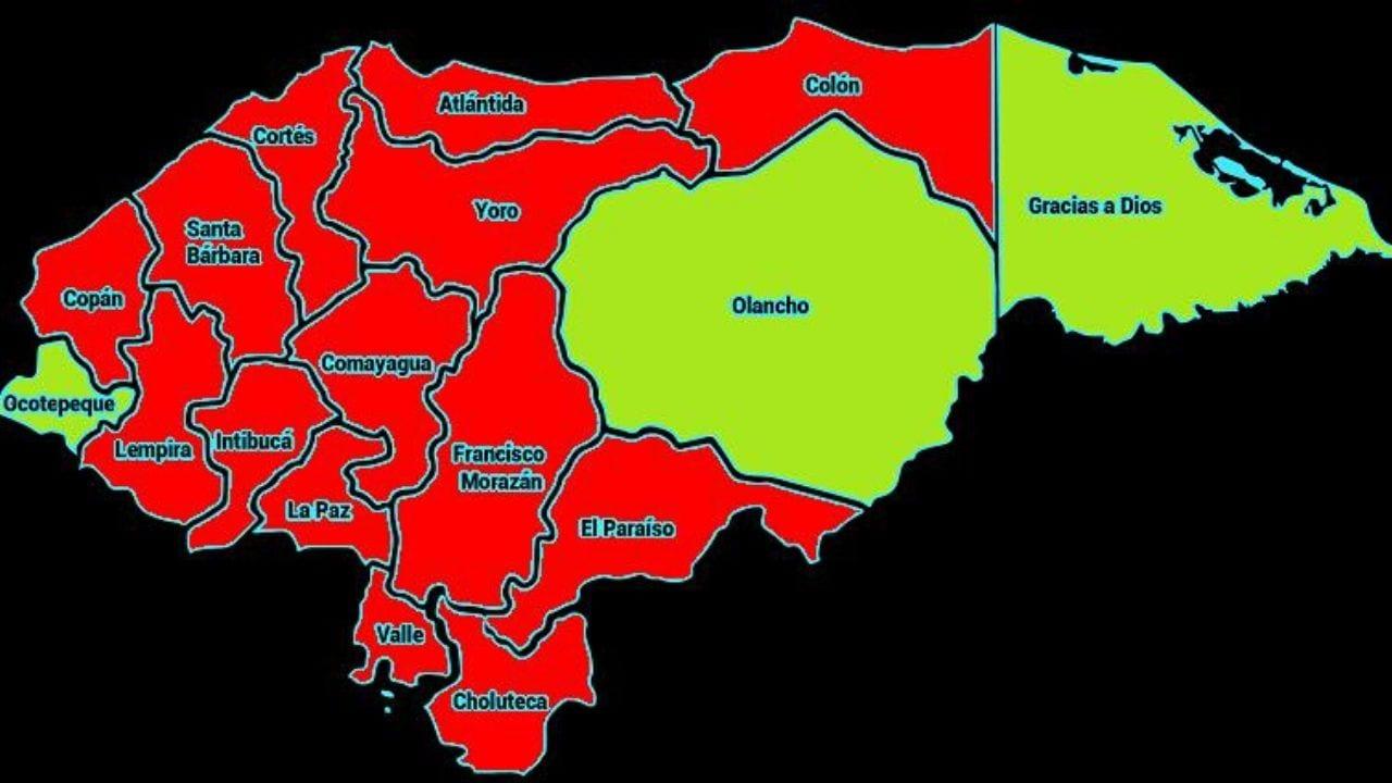 En el país, actualmente se registran 51 municipios afectados por la pandemia, de los cuales la mayoría pertenecen al departamento de Cortés