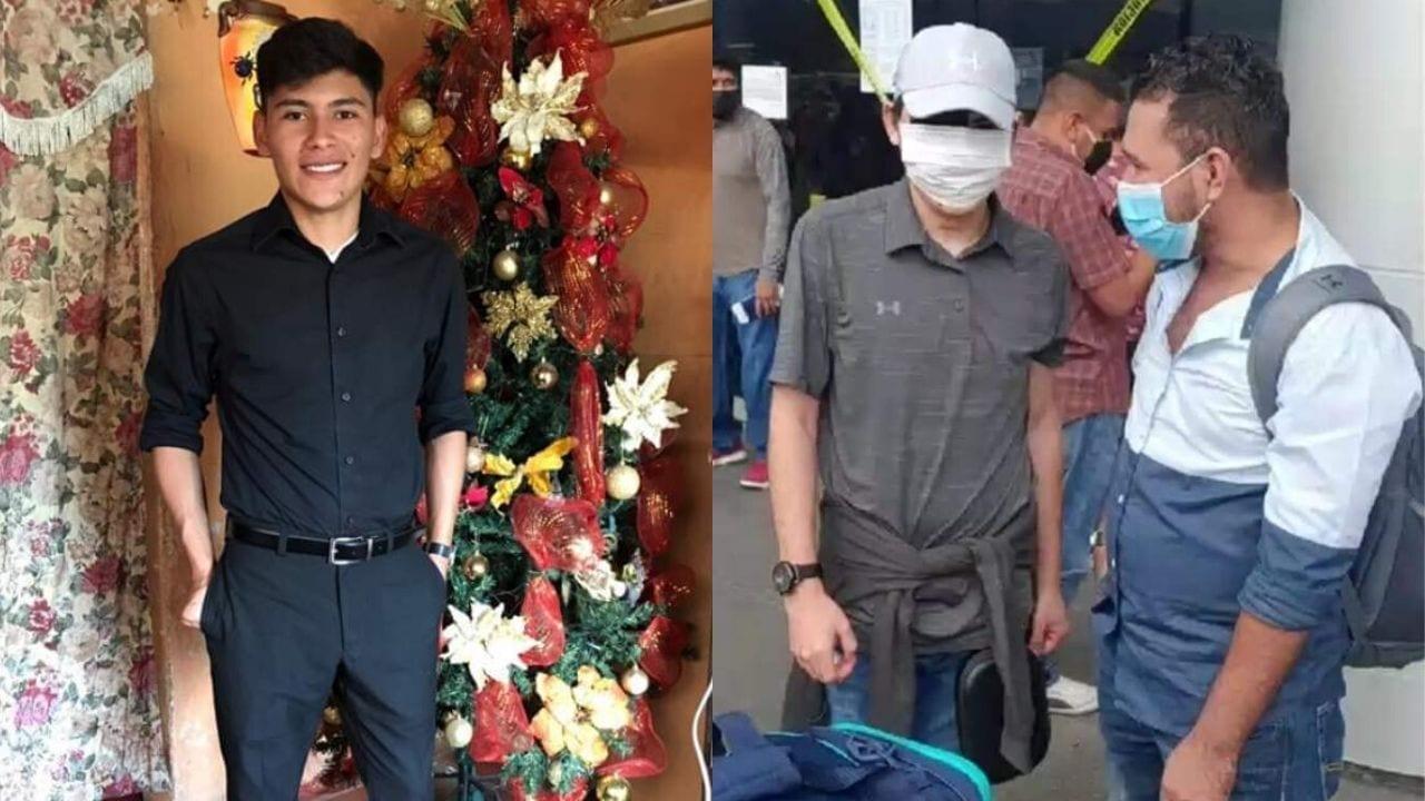 El joven fue trasladado a los Estados Unidos donde se le realizaría una reconstrucción en su rostro y este viernes aterrizó al país luego de su recuperación