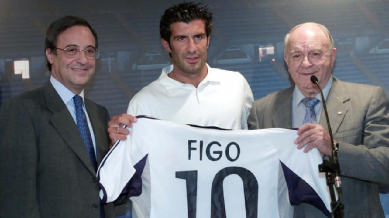 El luso reveló la razón de aquel episodio que se llevó a cabo el 25 de julio del 2000, cuando Florentino Pérez presidía al Real Madrid por primera vez.