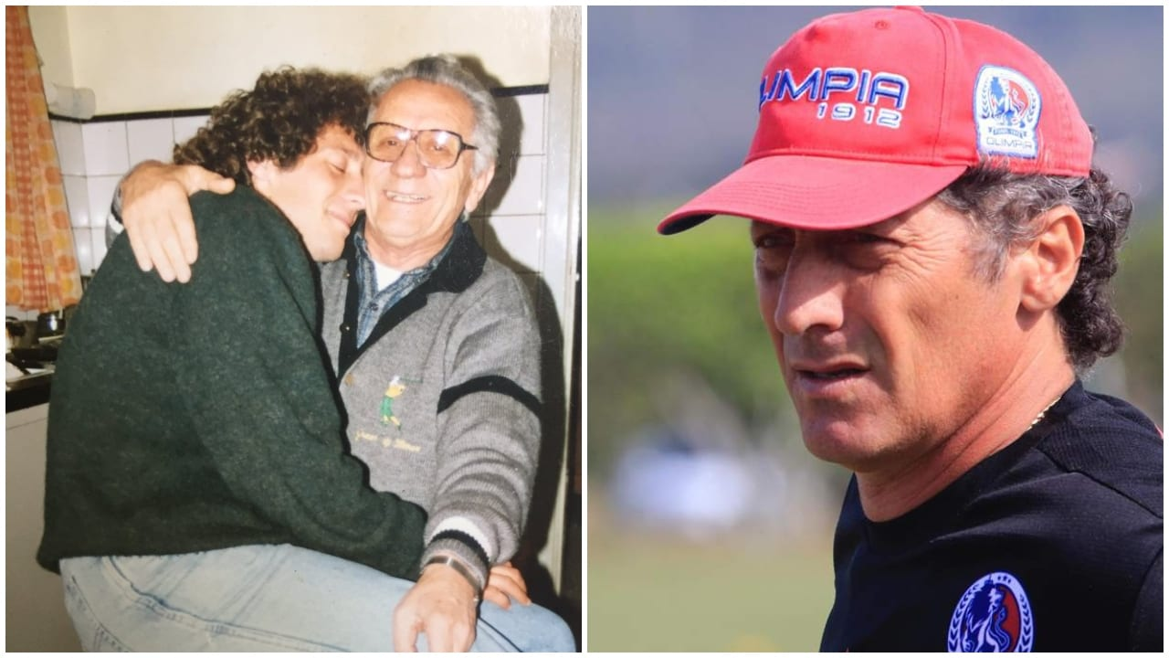 El entrenador Albo compartió una serie de fotografías inéditas junto a su padre.