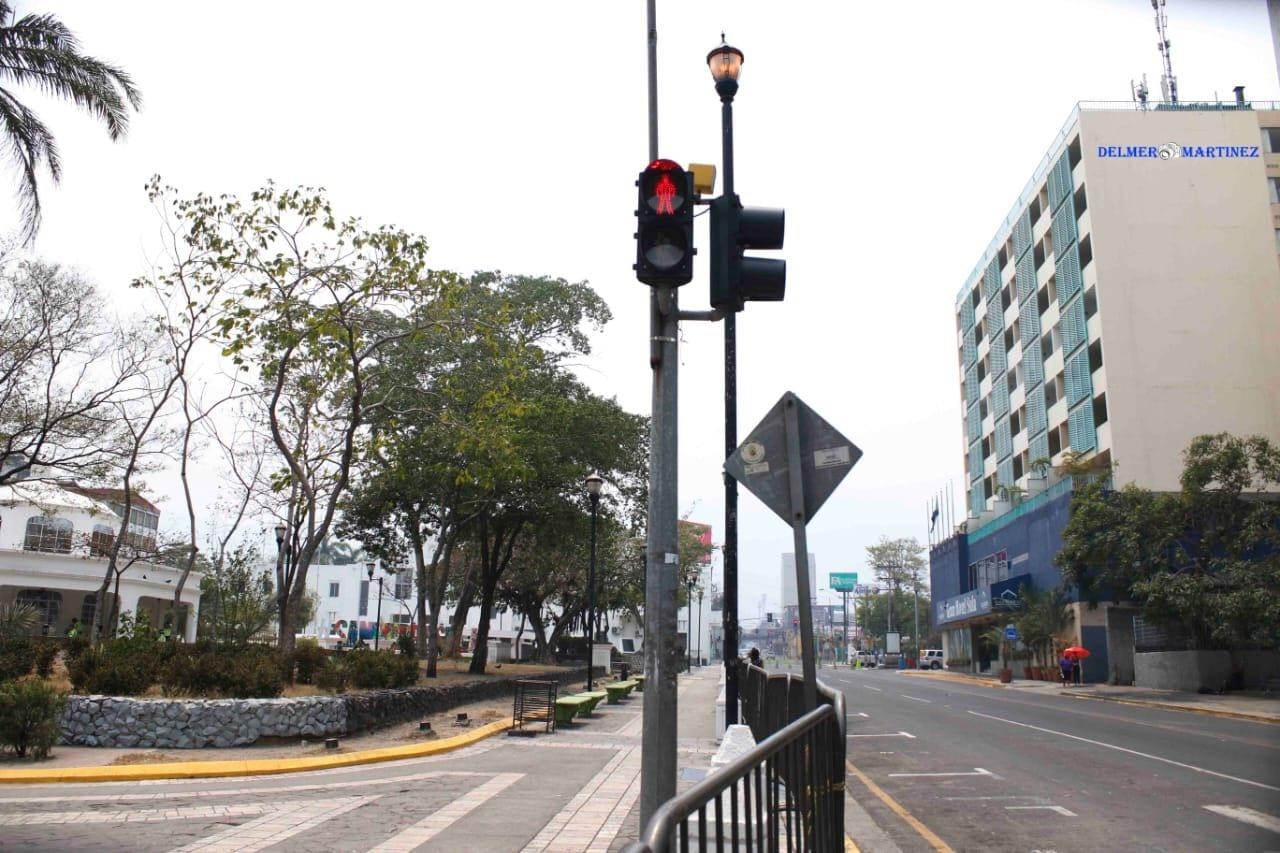 La cabecera del departamento de Cortés, el más afectado por el coronavirus, luce desolada.