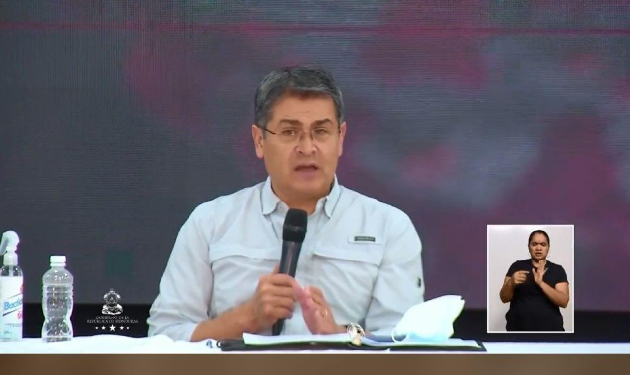 El presidente hondureño se refirió al tema mediante cadena nacional.