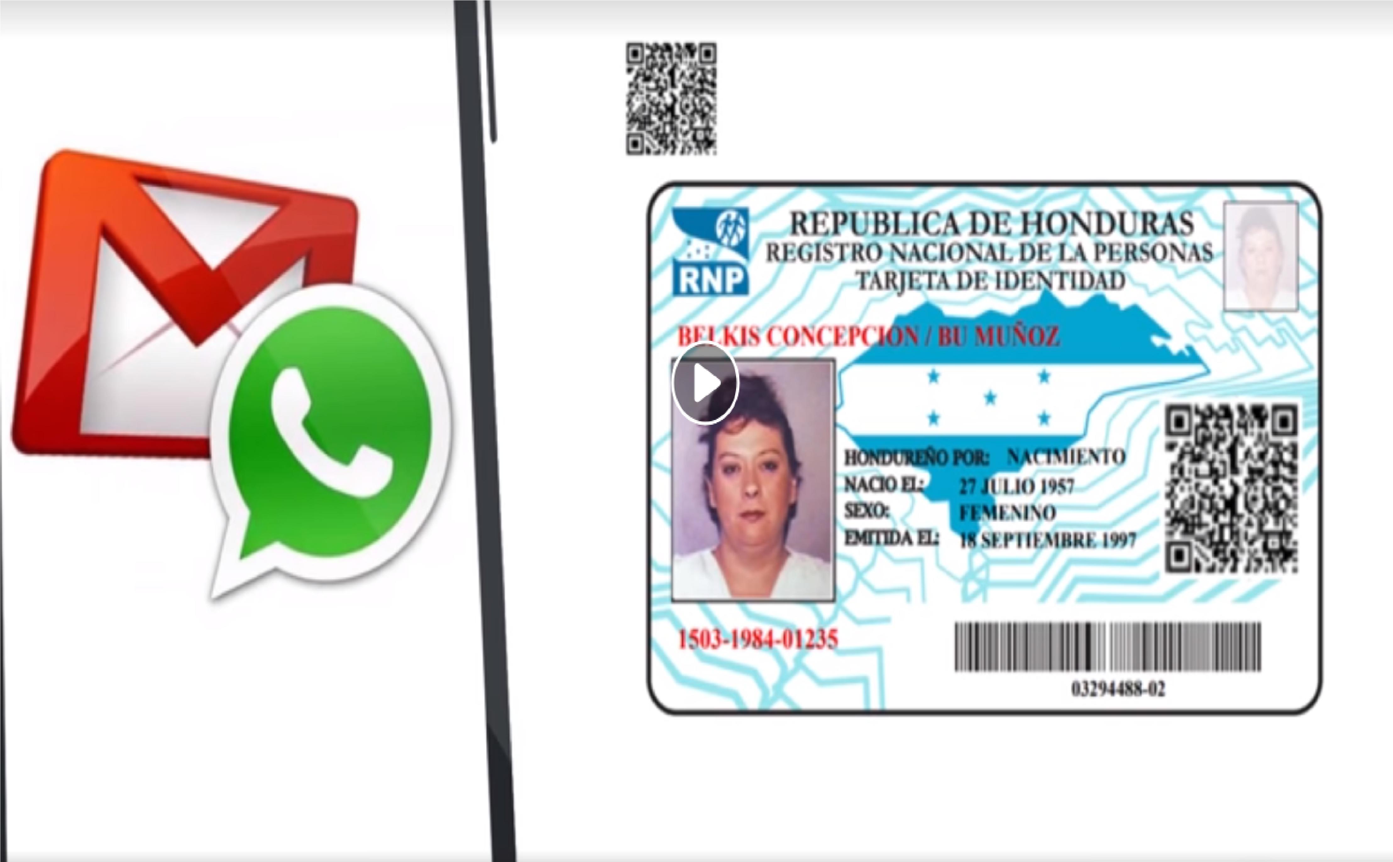 La cédula será enviada por WhatsApp o correo electrónico y debe ser aceptada en cualquier institución al realizar un trámite.