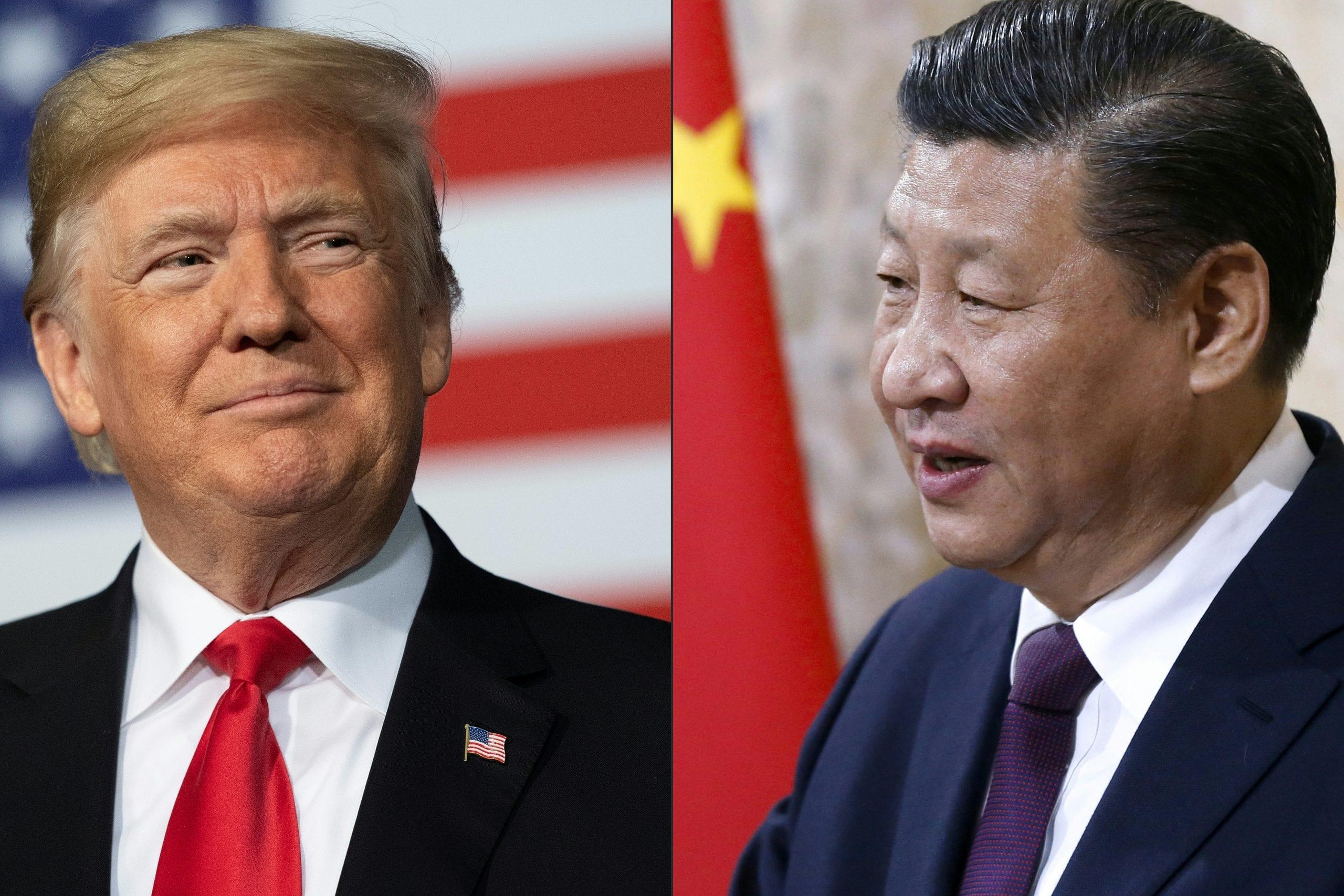 """Donald Trump amenazó el jueves con """"cortar cualquier relación"""" con Pekín."""