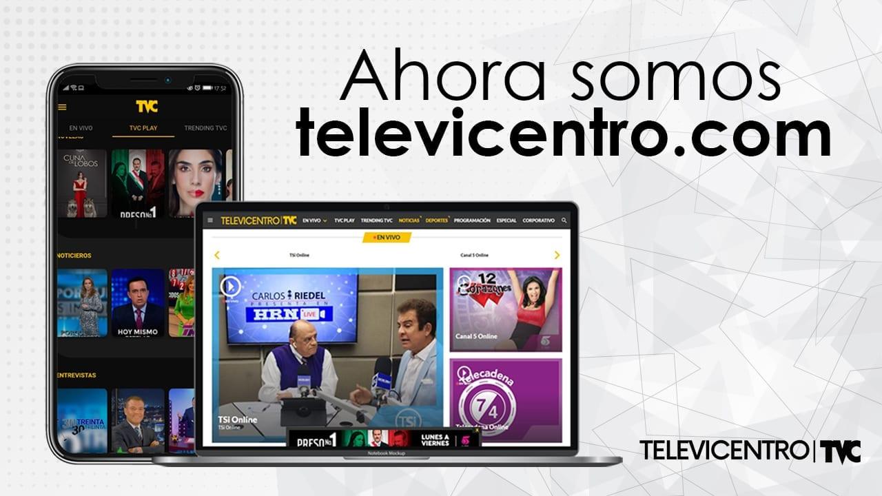 En la app y sitio web de Televicentro podrás seguir transmisiones en vivo, tus programas favoritos y el contendido trending del momento.