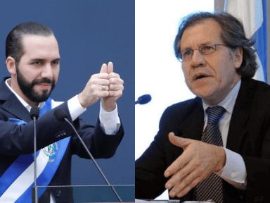 Nayib Bukele recibe apoyo de la OEA y rechazo de la ONU