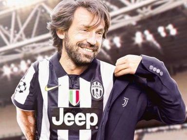 Andrea Pirlo prepara una barrida en la Juventus