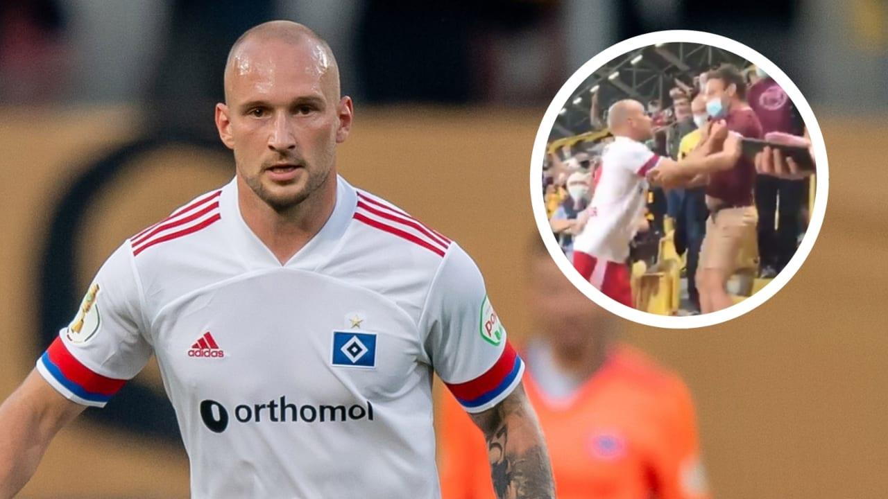 El altercado inició por insultos al jugador, terminó entre patadas y la intervención de la seguridad del estadio.
