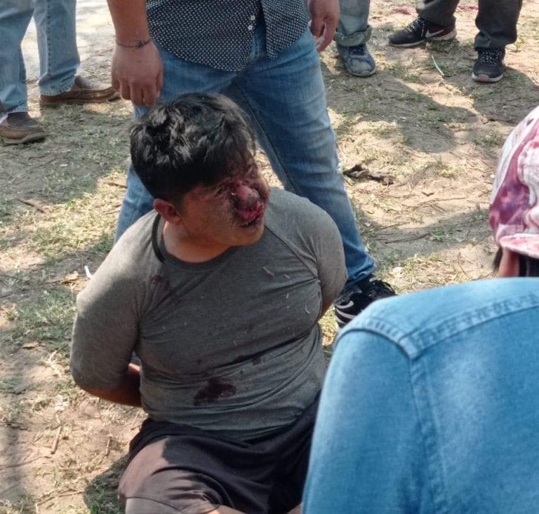 El hombre trató de escapar de su esposa pero lo que causó ha desatado indignación.