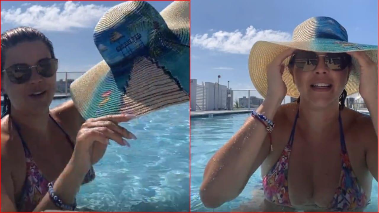En su cuenta de Instagram la exMiss Universo 1996 compartió un video en donde destacó un sombrero realizado por emprendedores del bazar del Sábado.