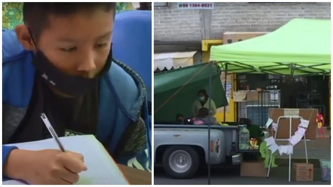 Hasta ahora se han sumado cuatro maestros voluntarios, donadores de aparatos electrónicos y vecinos como el herrero que presta el taller. Mira el vídeo.