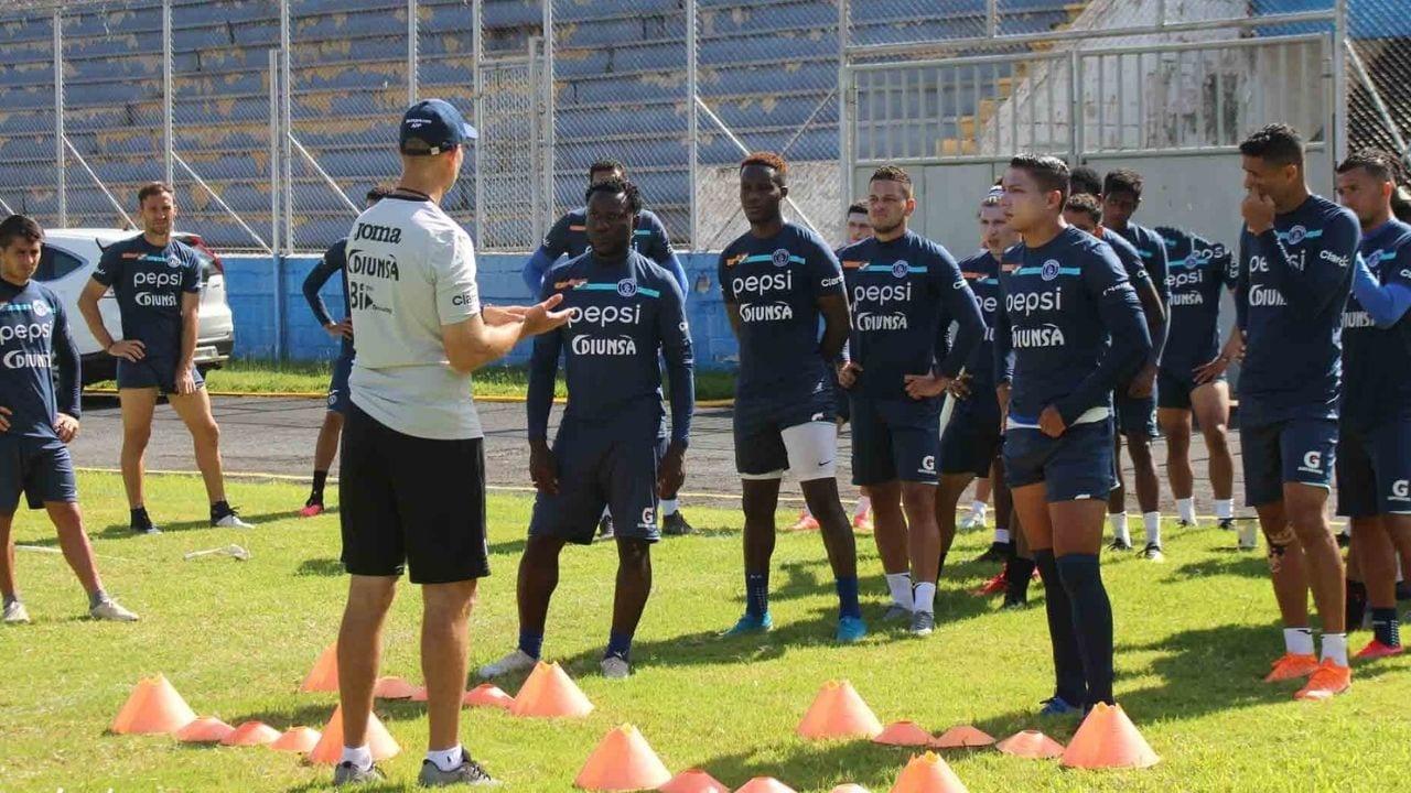 Los azules se sometieron a una prueba rápida para detectar covid-19, previo a un duelo amistoso contra Honduras Progreso.