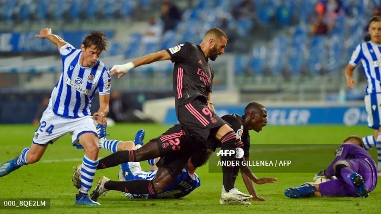 """""""Hicimos un buen partido, sobre todo defensivamente. No hemos conseguido nada, nos faltó el gol y claridad arriba"""", estimó Zidane."""