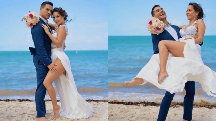 Así celebró la colombiana Carmen Villalobos su primer aniversario de matrimonio