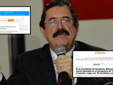 Así informó la prensa internacional la retención de Mel Zelaya en Toncontín