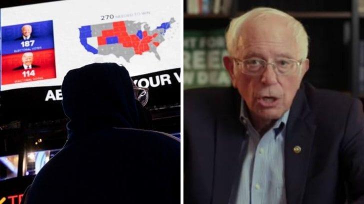 Bernie Sanders adivinó exactamente que Trump hablaría de fraude y el voto por correo trabaría la elección