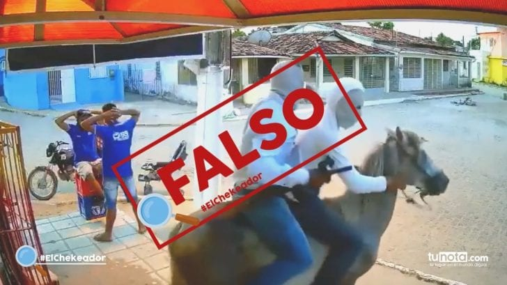 El Chekeador: Vídeo de increíble asalto en caballo no fue en Olancho, sino en Brasil
