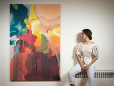 ¡Orgullo catracho! Artista hondureña presenta su primera exposición de arte en Nueva York