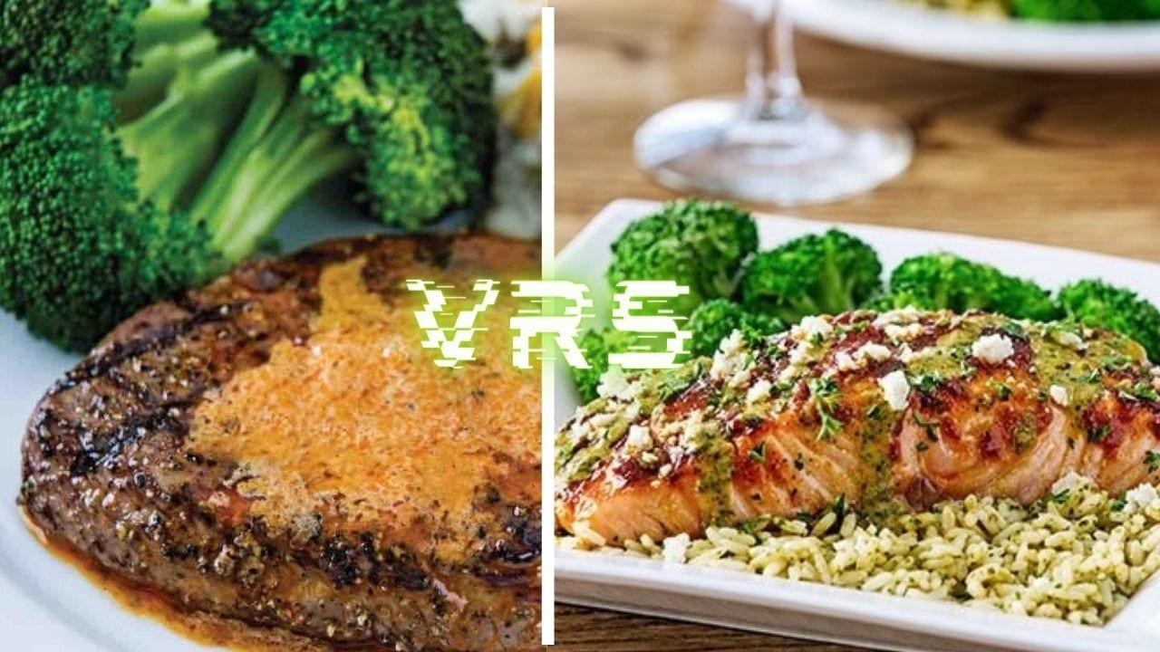 3 beneficios de comer mariscos vs 3 beneficios de comer carne de res.