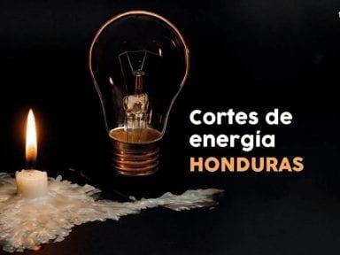 Listado de las zonas de Honduras que no tendrán energía eléctrica el martes 9 de marzo