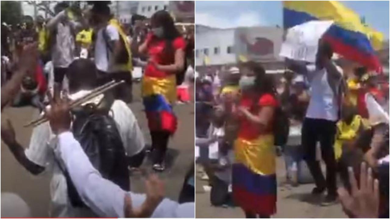Decenas de personas se arrodillaron para clamar a Dios por la paz del país sudamericano. Aquí las estremecedoras imágenes