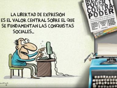 La caricatura de Allan McDonald en el Día del Periodista Hondureño