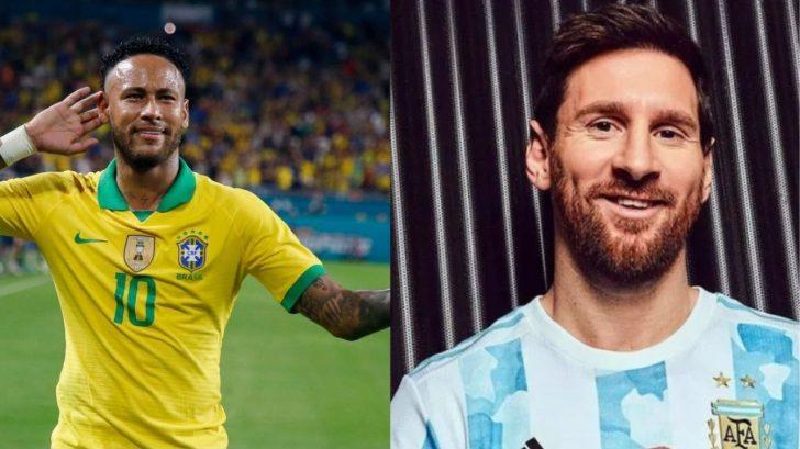 Neymar le saca ventaja a Messi en el inicio de la Copa América