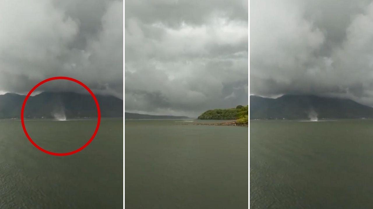 Aquí el impactante video que captó la formación de tornados con la llegada de la lluvia al territorio hondureño