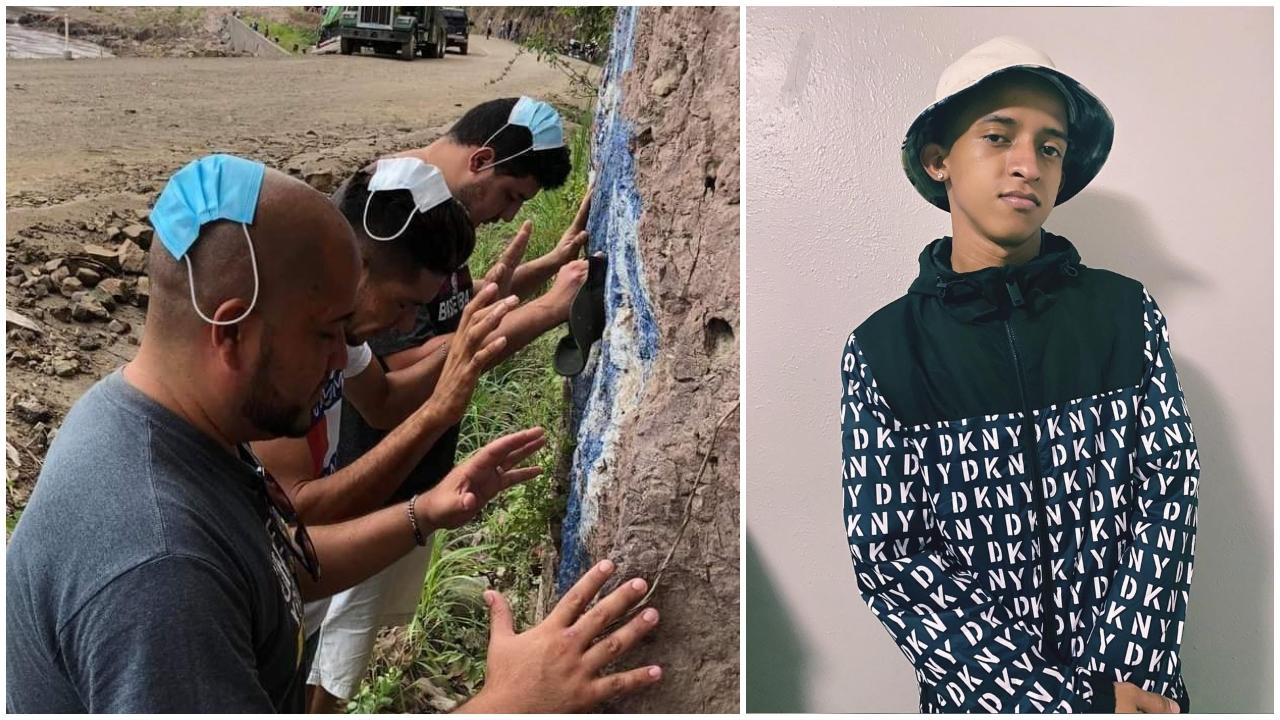 El artista hondureño reaccionó a las fotos de los compatriotas, que se viralizaron en las redes sociales al aparecer arrodillados con una mascarilla en su cabeza