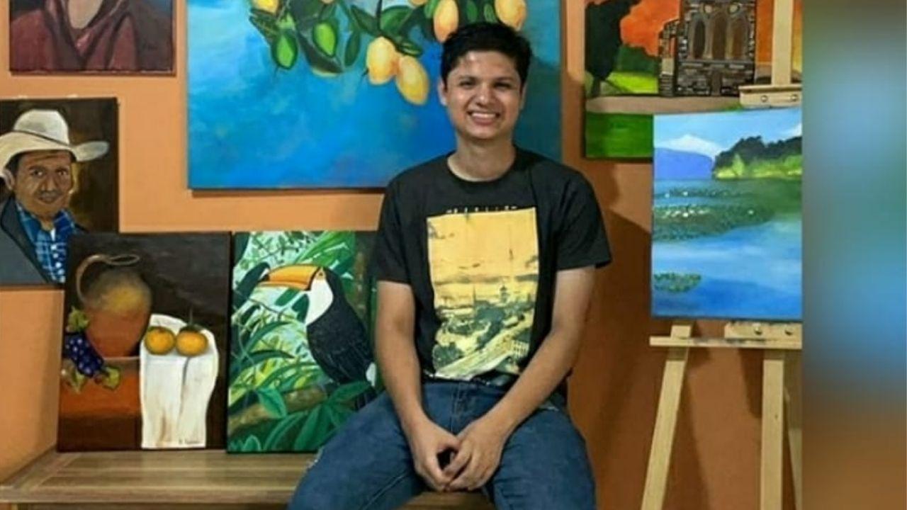 El joven pintor radica en San Pedro Sula y sigue perfeccionando su técnica para lograr más obras de arte