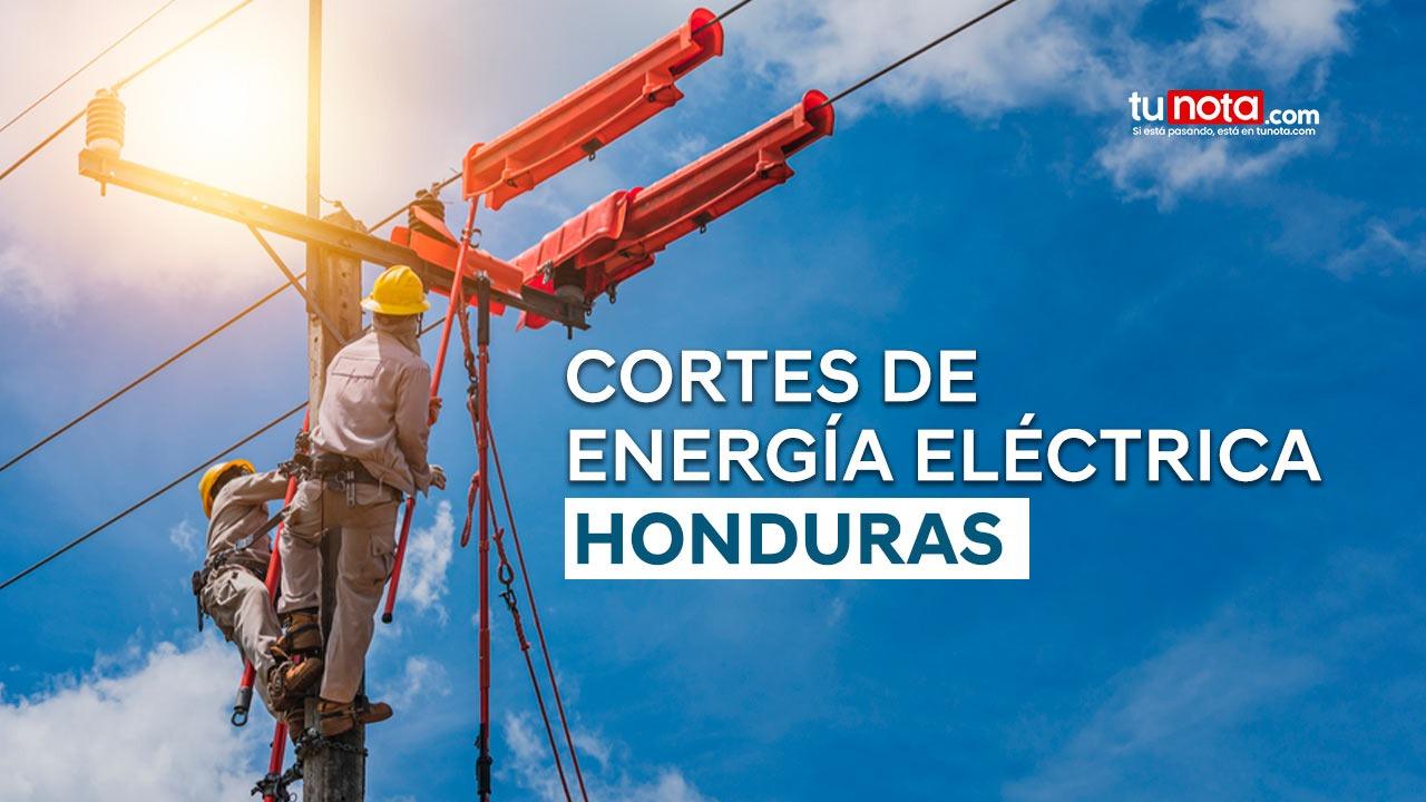 Conozca las zonas del territorio hondureño que no tendrán energía eléctrica el jueves 22 de julio