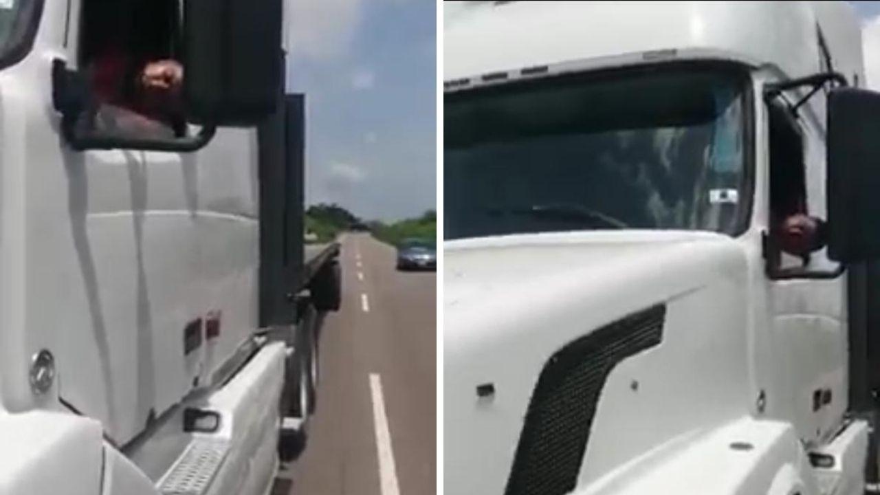 Mira el video del camionero dormir en carretera y las sanciones que recibirá