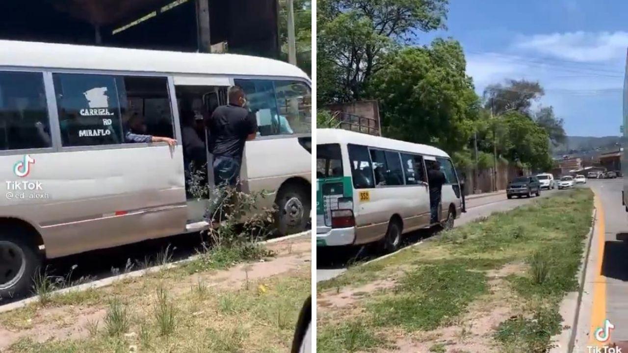 Mira el video de cómo un imprudente conductor viaja en Tegucigalpa