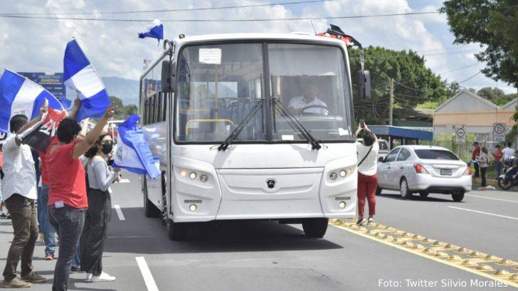 Nicaragua recibe 130 autobuses de Rusia para renovar transporte urbano